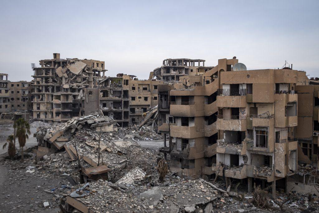 Entire neighbourhoods in Raqqa are damaged beyond repair.