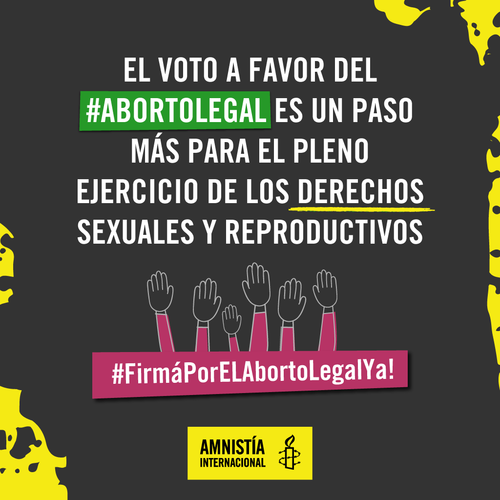 ¡Sumá tu firma para que el Congreso apruebe el aborto legal!