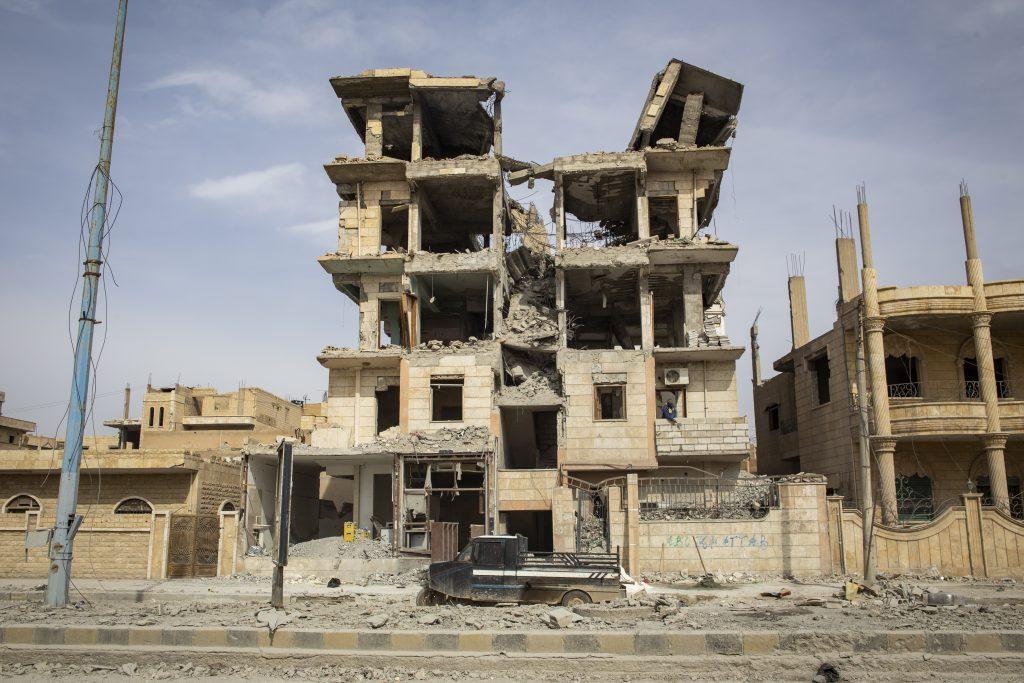 Destroyed neighbourhood in Raqqa, Syria, February 2018.
