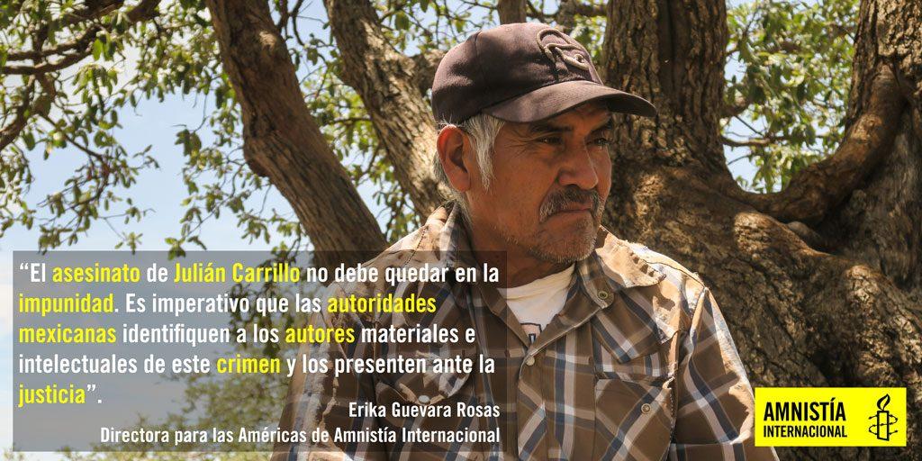 Julian Carrillo. Human Rights Defender -postcard