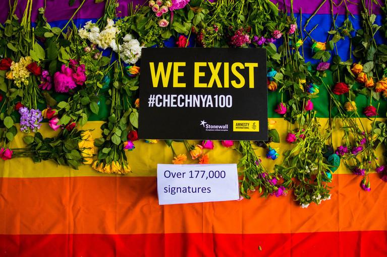 AIUK Chechnya demo at Russian Embassy