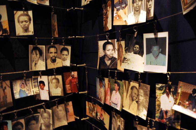 Photos of victims of the 1994 Rwandan Ge