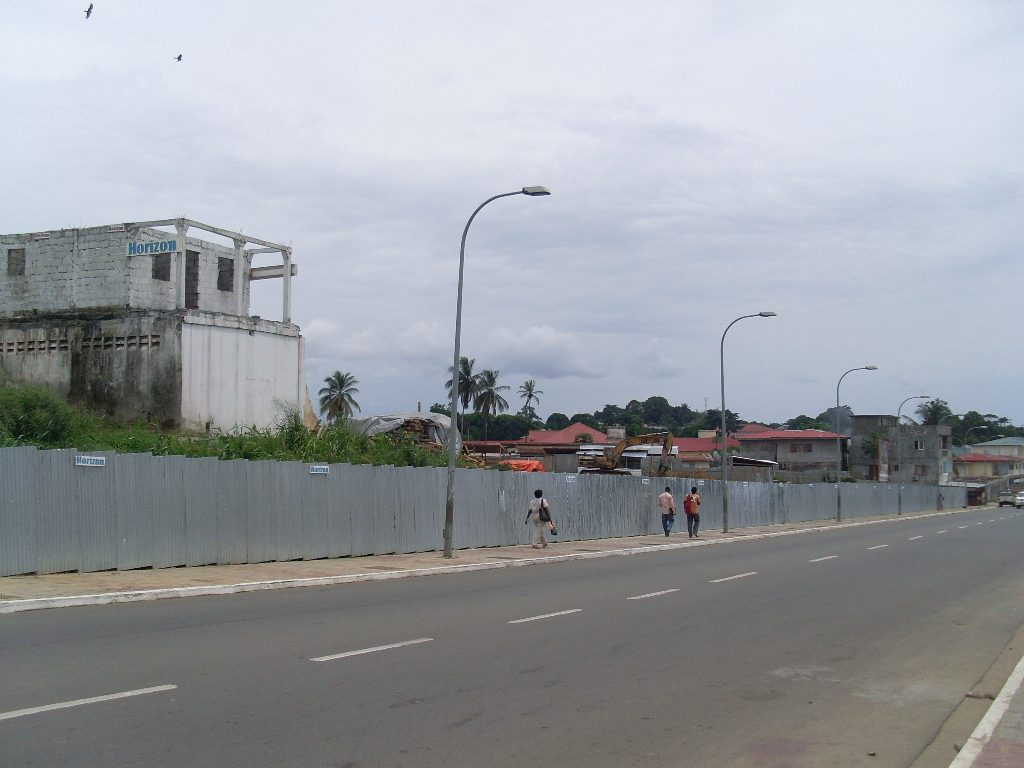 One of the houses demolished in the Comandachina neighborhood of Bata, Equatorial Guinea, January 2009.